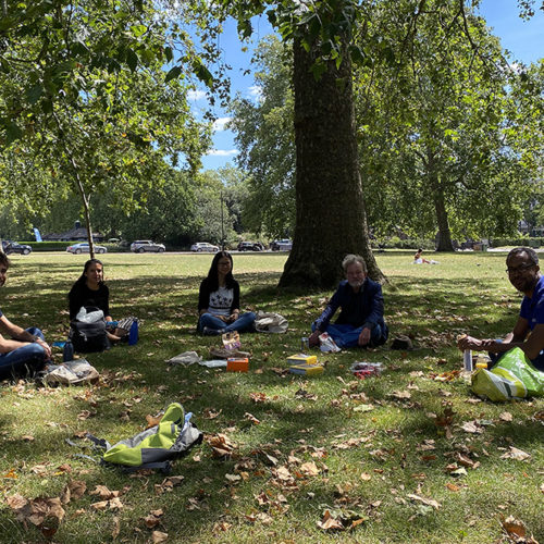 Our lab picnic in Hyde Park in July 2020: note the effective social distancing!