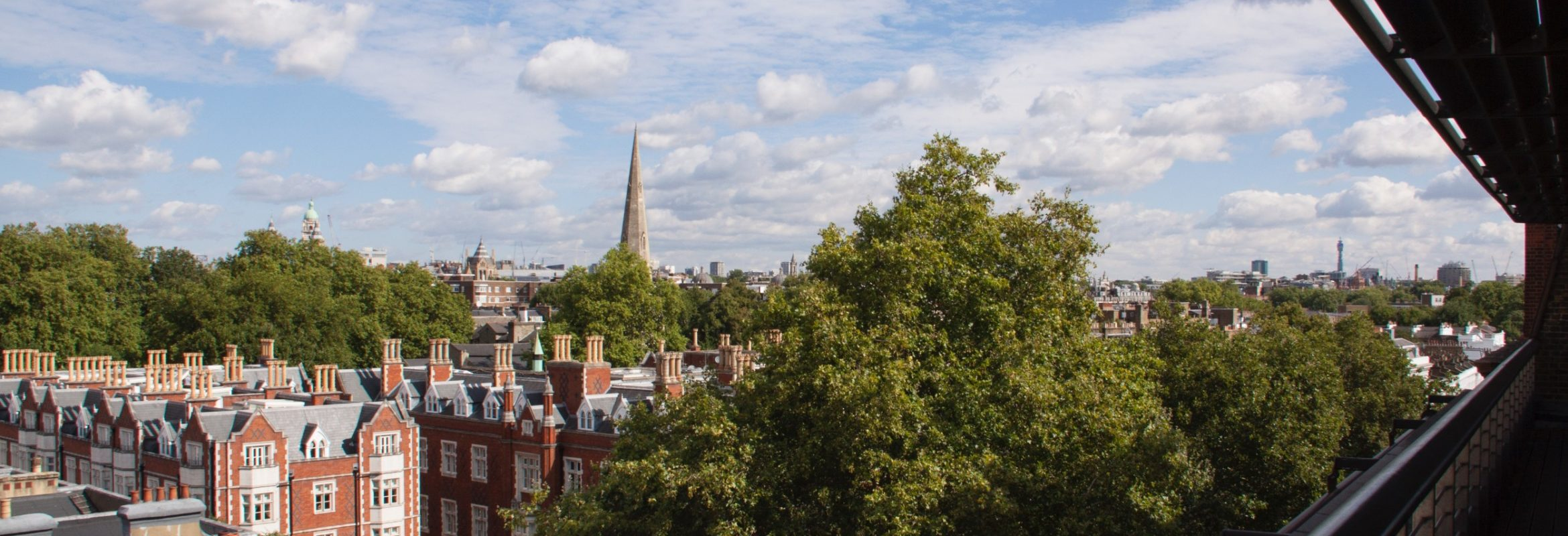 Our lab is located at the Chelsea site of ICR in central London. This is the view from the top floor.