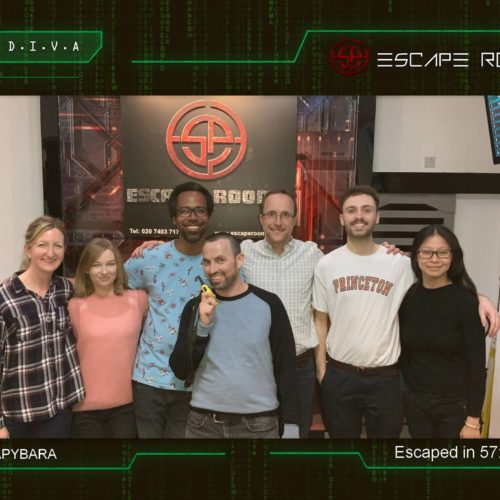 Our successful Escape Room challenge in June 2019.